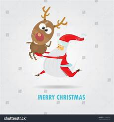 merry christmas greeting card vector abstract background vector santa claus running with