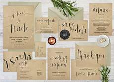 Wedding Invitation Kraft Paper