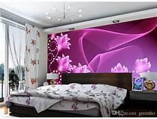 Flower Wallpaper In Bedroom by Fashion Wall Mural Purple Flowers Photo Wallpaper Dazzles