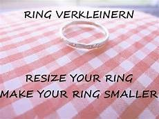 tutorial make a ring smaller resize your fingerring ring big youtube