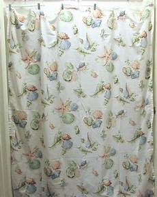 seashell shower curtain martha stewart seashells fabric shower curtain beige multi