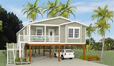 stilt house plans florida exterior rendering of jacobsen home model tnr 6481b raised