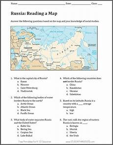 russia map worksheet free to print pdf file geography fun activities world geography