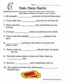their there they re homophones worksheet have fun teaching