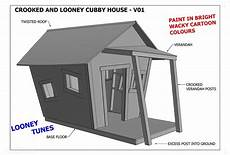 timber cubby house plans crooked cubby house play house v05 building plans