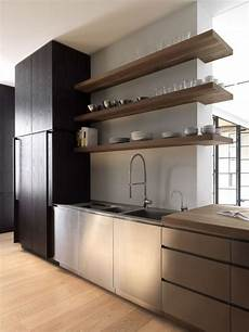 Modern Open Shelving Kitchen Ideas by Kitchen With Wood Open Shelves Just Decorate
