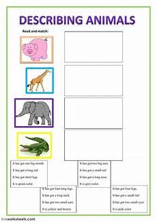 describing animals interactive worksheet