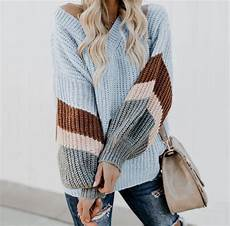 forever loving you sweater fashion color block sweater