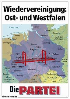 nord süd ost west wiedervereinigung ost und westfalen die partei