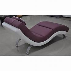 chaise longue de relaxation en cuir malaga pop design fr
