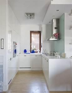 Sehr Kleine Küche - kleine k 252 che gestalten pur wei 223 einbauger 228 te glas