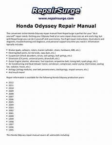 service repair manual free download 2009 honda odyssey free book repair manuals honda odyssey repair manual 1995 2012