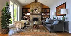 malibu rustic modern ranch house rustic living room