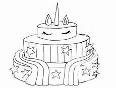 Malvorlagen Unicorn Cake Unicorn Cake Coloring Pages For Boys Free Printable