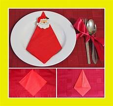 Servietten Falten Weihnachtsmann Servietten