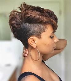 beautiful mohawk thick hairstyle for black women short hairstyles 2018
