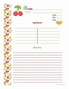 recipe card book template cherry orange recipe card page organization