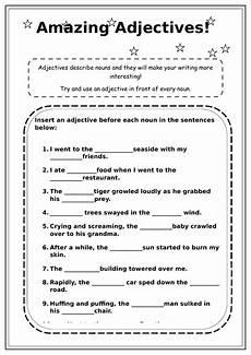 worksheets for ks2 18570 adjectives worksheet ks2 teaching resources