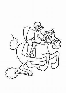Lustige Pferde Ausmalbilder Ausmalbilder Lustiges Rennpferd Mit Jockey Pferde
