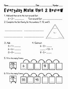 everyday math unit 2 review by amanda olson teachers pay teachers