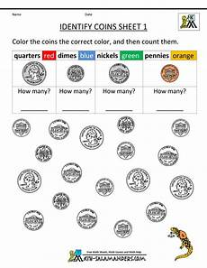 free printable money math worksheets for kindergarten 2686 kindergarten printable worksheets identify coins 1 gif 800 215 1035 kindergarten money