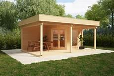 gartenhaus mit gro 223 er terrasse und vordach remo 3 6m2