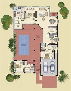 u shaped house plans with courtyard marvelous spanish courtyard house plans 9 house floor