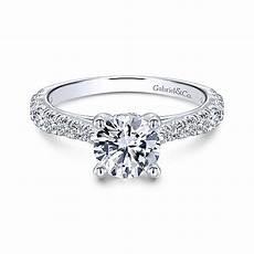 engagement rings avery avery 14k white gold engagement