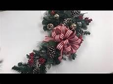 dollar tree candy cane wreath form tutorial youtube