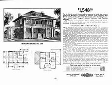 modern foursquare house plans modern no 158 sears home i love the sleeping porch