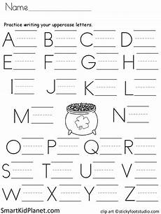 handwriting worksheets uppercase and lowercase 21595 free print practice uppercase letters st s day smart kid planet printing practice