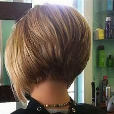 concave bob back view of stacked bob haircut trendy 2020 popular short inverted bob haircut back view