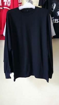 jual beli kaos polos hitam lengan panjang baru kaos baju t shirt pria murah