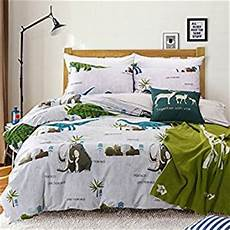 amazon com maxyoyo simple cartoon dinosaur duvet cover set age of dinosaurs cotton bedding set