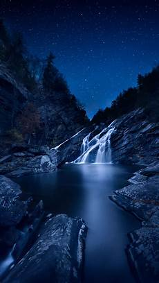 4k Wallpaper Nature For Android by Nature Waterfall Starrysky Stones Wallpapers Hd 4k