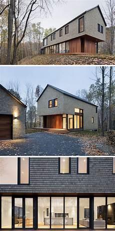 modernes holzhaus satteldach moderne fassaden architektenhaus mit satteldach