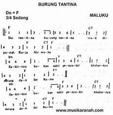 Maluku Burung Tantina Lirik Chord Not
