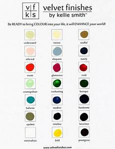 color chart velvet finishes by kellie smith a no sand