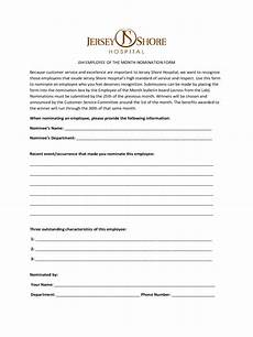 employee of the month nomination form 5 free templates in pdf word excel download
