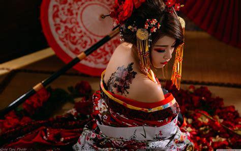 Geisha Wallpaper Hd