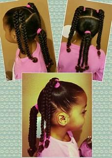 mixed black braids kids curly curls natural hair