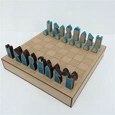 Modern Laser Cut Chess Set