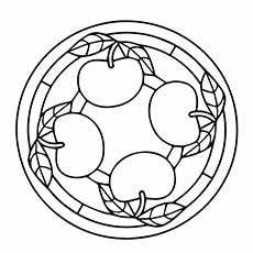 Ausmalbilder Apfel Mandala Mandala Frutta Ausmalbilder Herbst Apfel Basteln Und