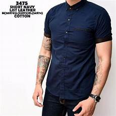 jual promo baju hem baju polos cowok pendek cotton hem