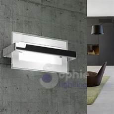 applique da parete moderni applique moderno rettangolare acciaio cromato vetro