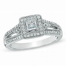 zales com wedding rings previously owned 1 2 ct t w princess cut diamond