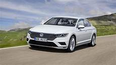 2019 vw passat facelift for europe imagined with arteon