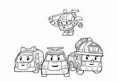 rescue vehicles coloring pages 16411 скачать раскраски поли робокар