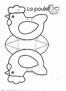 gabarit panier paques gabarit poule ateliers enfants bricolage paques deco