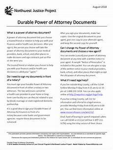 free durable power of attorney washington form adobe pdf